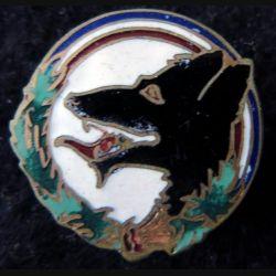 168° RIF : insigne métallique du 168° régiment d''infanterie de forteresse Les Loups du Bois Le Prêtre 25  mm en émail