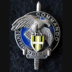 CEC 30° RI : insigne métallique de brevet commando d'aguerrissement de Bonifacio de fabrication Delsart G. 3224