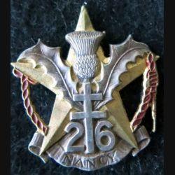 26° RI : Insigne métallique du 26° régiment d'infanterie Drago  peint