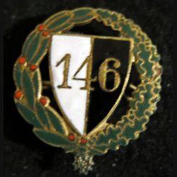 146° RI : insigne métallique du 146° régiment d'infanterie en émail