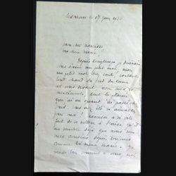 Lettre d'un prêtre professeur en collège à sa cousine en 1935
