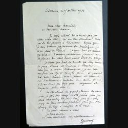 Lettre d'un prêtre professeur de musique à sa cousine en 1934 Finsitère Nord