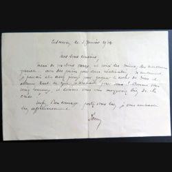Lettre de voeux du 3 janvier 1934
