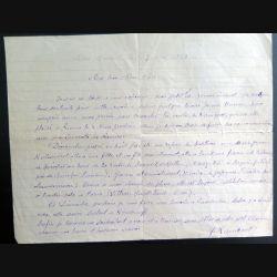 Lettre de voeux du 14 janvier 1937 de Quimper de M. Kerveillant