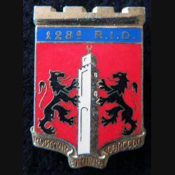 128° RID : insigne du 128° régiment d'infanterie divisionnaire de fabrication Drago Paris G. 2532
