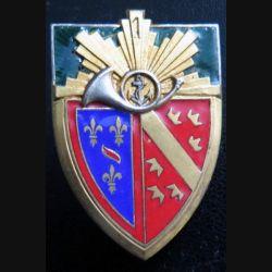 1° RCH : 1° régiment de chasseurs, ancre dans cor, de fabrication Drago déposé en émail