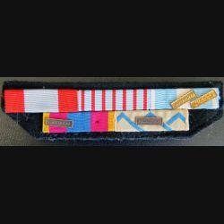 Barrettes de rappel de 5 décorations opérations Rwanda et RCA