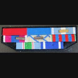 Barrettes de rappel de 8 décorations opérations Liban et Ex-Yougoslavie