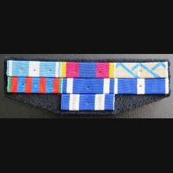 Barrettes de rappel de 7 décorations opérations Ex Yougoslavie et Kosovo