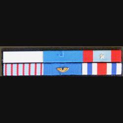 Barrettes de rappel de 6 décorations aviation manque ruban légion d'honneur
