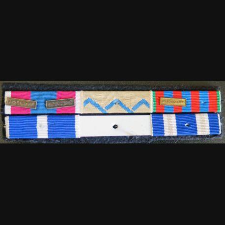 Barrette de rappel de 6 décorations arme blindée manque 1 ruban de commémorative