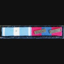 Barrettes de rappel de 2 décorations avec ses 2 barrettes métal FAP et MAE