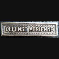 """Barrette """" DÉFENSE AÉRIENNE """" en métal argenté"""