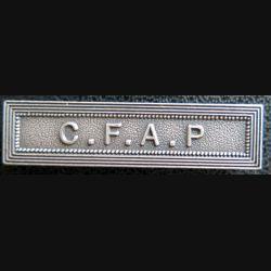 """Barrette """" C.F.A.P """" en métal argenté"""