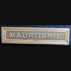 """Barrette """" MAURITANIE """" en métal doré"""