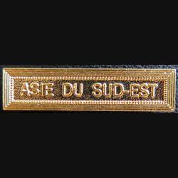 """Barrette """" ASIE DU SUD EST """" en métal doré"""