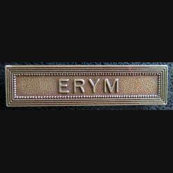 """Barrette """" ERYM """" en métal bronzé"""