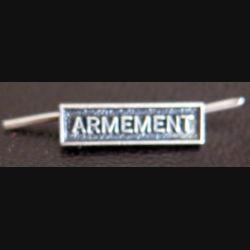 """Barrette miniature """" ARMEMENT """" en métal argenté"""