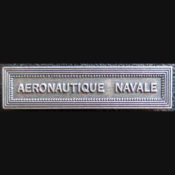 """Barrette  """" AERONAUTIQUE NAVALE """" en métal argenté"""