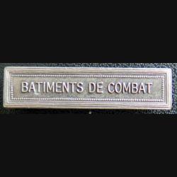"""Barrette """" BÂTIMENTS DE COMBAT """" en métal argenté"""