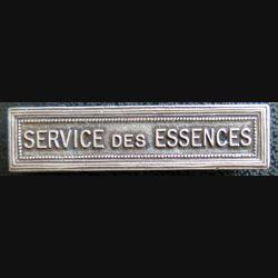 """Barrette """" SERVICE DES ESSENCES """" en métal argenté"""