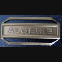 """Barrette """" ALGÉRIE """" en métal bronzé"""