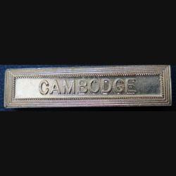 """Barrette """" CAMBODGE """" en métal doré"""