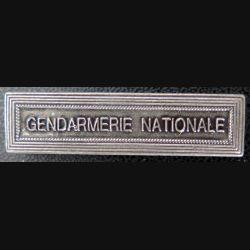 """Barrette """" GENDARMERIE NATIONALE """" en métal argenté"""