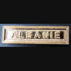 """Barrette """" ALBANIE """" en métal doré"""