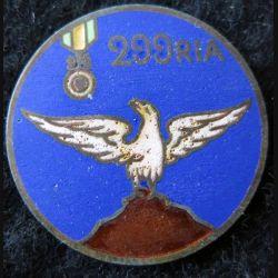 299° RIA : 299° régiment infanterie alpine en émail attache absente