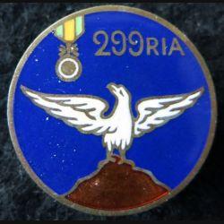 299° RIA : 299° régiment infanterie alpine sans mention du fabricant en émail