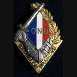BF CORÉE : bataillon français de l'ONU en Corée de fabrication OFSI Paris en émail embouti