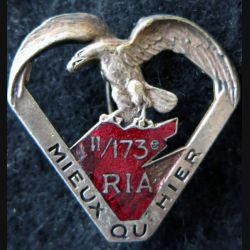 173° RIA : 2° bataillon du 173° régiment d'infanterie alpine de fabrication Chobillon Déposé émail