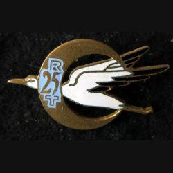 25° RTA : insigne métallique du 25° régiment de tirailleurs algériens Drago Paris en émail