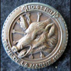 104° RI : 104° régiment d'infanterie Taxis de la Marne 1914 en bronze