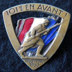 101° RI : 101° régiment d'infanterie En avant Arthus Bertrand Paris en émail