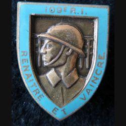 109° RI : 109° régiment d'infanterie  Drago Paris en émail