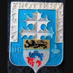 110° RI : 110° Régiment d'infanterie Delsart H. 114 finition argent translucide avec poinçon