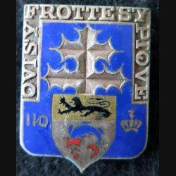 110° RI : 110° régiment d'infanterie de fabrication Drago Béranger en émail