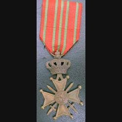 BELGIQUE : croix de guerre 1914-1918 en bronze