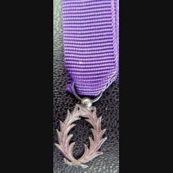 FRANCE : médaille miniature de l'Ordre des palmes académiques en argent