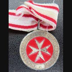 MALTE  : médaille de la journée des lépreux 1991 de l'Ordre souverain militaire et hospitalier de Malte