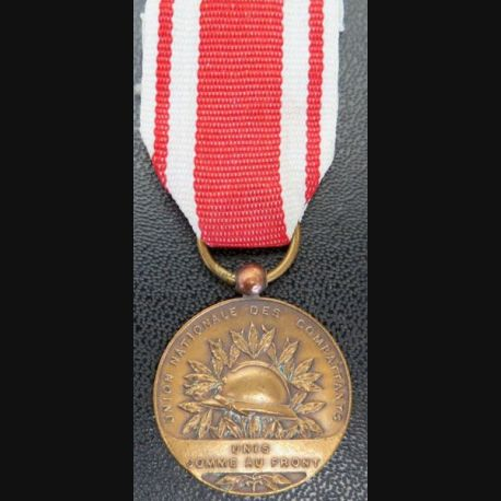 FRANCE : médaille de l'Union Nationale des Combattants UNC en bronze fruban non conforme