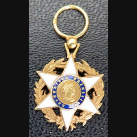 FRANCE : Médaille miniature de chevalier de l'Ordre du mérite agricole Or