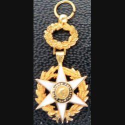 FRANCE : Médaille miniature de commandeur de l'Ordre du mérite agricole Or