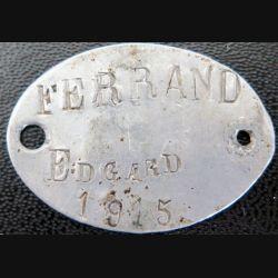 Bracelet métallique attribué en 1915 à Edgard Ferrand ILLE 929