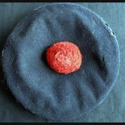 """Bachi de marin en laine bleue avec bandeau """"Richelieu"""" sans coiffe"""