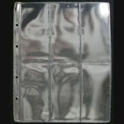 10 feuilles pochettes plastiques neuves pour 6 décorations de dimension 255 x 205 mm non compatibles avec classeurs A4