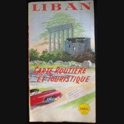 CARTE ROUTIÈRE et touristique SHELL DU LIBAN DES ANNÉES 60 (C139)