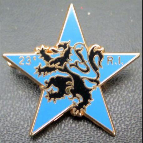 23° RI : brevet d'étoile d'éclaireur du 23° régiment d'infanterie de fabrication Arthus Bertrand Päris matriculé 18